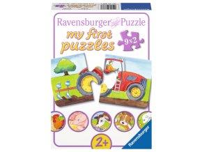 Moje první puzzle: Zvířátka na farmě - 9 x 2 dílky