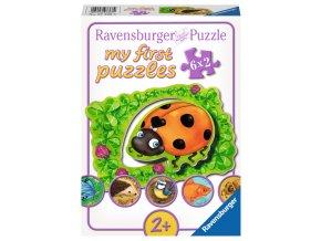 Moje první puzzle: Kde zvířátka žijí - 6 x 2 dílky