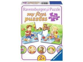 Moje první puzzle: Malí dobrodruzi - 9 x 2 dílky