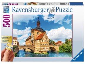 Německo, Bamberg - Gold edition- puzzle  s většími dílky