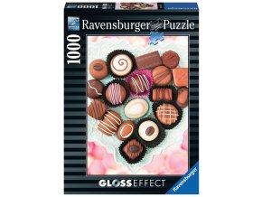 Čokoládové bonbóny - puzzle s lesklým efektem - CLOSSEFFECT