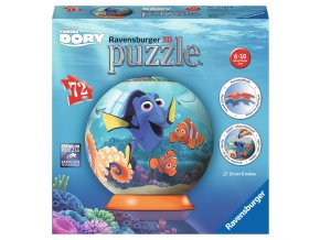 Walt Disney: Hledá se Dory - 3D puzzleball 72 dílků