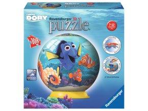 Walt Disney: Hledá se Dory - 3D puzzleball - 108 dílků