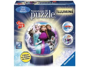 Walt Disney: Ledové království  - 3D puzzleball - svítící - zapne a vypne na tlesknutí