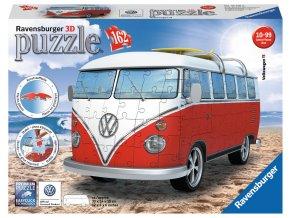 Volkswagen T1 - VW BUS - 3D -162 dílků