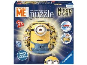 Mimoň - Já padouch - puzzleball 72 dílků - 3D svítící LED - zapne a vypne na tlesknutí