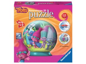 Trollové - 3D puzzleball 72 dílků