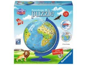 Glóbus se zvířaty - 3D puzzleball -180 dílků