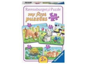 Moje první puzzle: Zvířátka - 2, 4, 6, 8 dílků