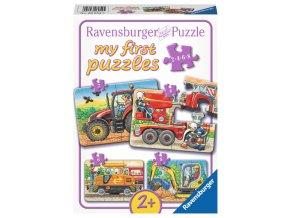 Moje první puzzle: Tvrdá práce - 2, 4, 6, 8 dílků