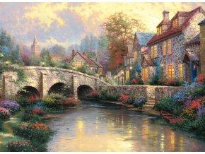 Thomas Kinkade: U starého mostu (Bei der alten Brücke)
