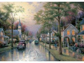 Thomas Kinkade: Ráno v malém městě (Morgen in der kleinen Stadt)