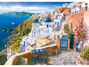 Sam Park: Vyhlídka ze Santorini (Blick von Santorin)