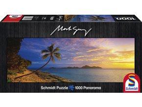 Mark Gray: Ostrov Tokoriki - Fiji (Tokoriki Island Sunset – Fiji) - panorama