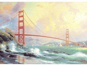 Thomas Kinkade: Golden Gate Bridge, San Francisco - v plechové krabičce