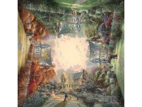 Thomas Kinkade: Viktoriánská zahrada od jara do zimy - čtvercové