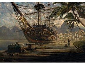 Sarel Theron: Kotvící loď (Ship at Anchor)