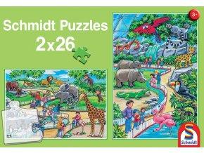Den v zoo - 2 x 26 dílků