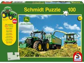 Traktor John Deere 7310R a kombajn 8600i + model Siku