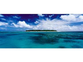 Mark Gray: Lady Musgrave Island - Queensland Austrálie - mini puzzle -136 dílků