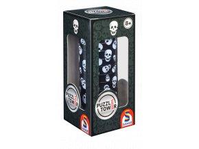 PuzzleTower: Lebka -  10 magnetických disků - 3D