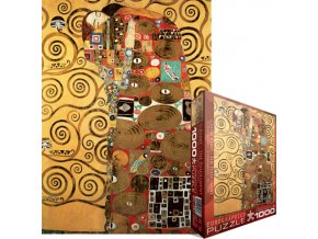 Klimt: Naplnění (Objetí) (The Fulfillment)