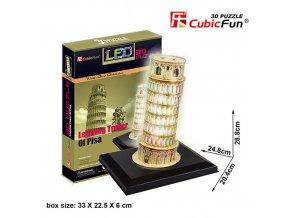 Šikmá věž v Pise   3D - svítící (led) - 15 dílků
