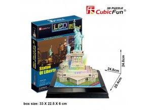 Socha Svobody (New York) 3D - svítící (led) - 37 dílků