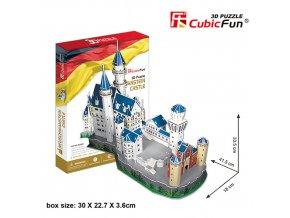 Zámek Neuschwanstein (Německo) 3D - 121 dílek