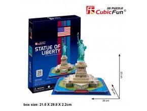 Socha Svobody (New York) 3D - 39 dílků