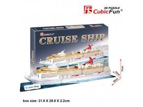 Výletní loď 3D - 86 dílků
