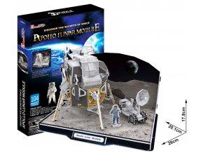 Lunární modul Apollo 3D - 104 dílky