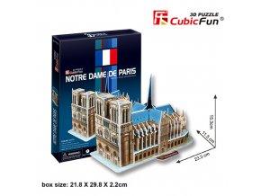 Katedrála Notre Dame (Paříž) 3D - 40 dílků