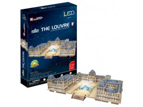 Louvre(Paříž) - 3D svítící (LED) - 137 dílků