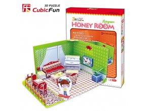 Honey Room - Obývací pokoj 3D - 49 dílků