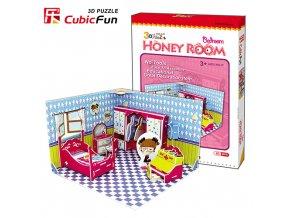 Honey Room - Ložnice 3D - 63 dílky