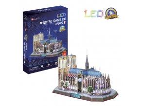 Notre Dame (Paříž) - 3D svítící (led) - 149 dílků