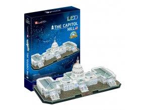 The Capitol Hill (USA) -3D svítící (led) - 150 dílků