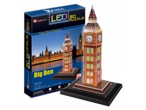 Big Ben (Londýn) - 3D svítící (LED) - 28 dílků