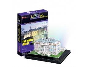 Bílý Dům (White House USA) - 3D svítící (LED) - 56 dílků