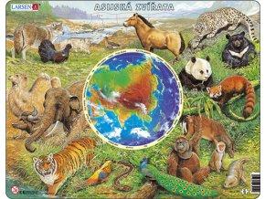 Zvířata Asie + mapa - deskové