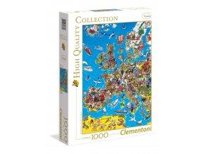 Mapa Evropy s obrázky