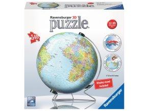 Globus - 3D puzzleball se stojánkem - 540 dílků