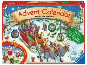 Adventní kalendář - 24 originálních vánočních ozdob