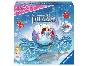 Walt Disney: Puzzleball 3D - Popelka v kočáře - 72 dílků