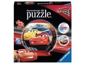 Walt Disney: Cars 3: puzzleball 3D -72 dílků