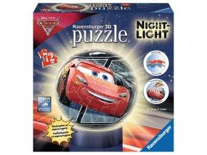 Walt Disney Cars 3: puzzleball 3D svítící LED - zapne a vypne na tlesknutí