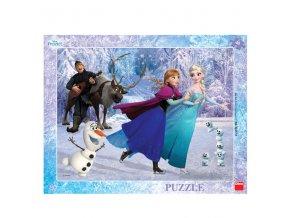 Frozen: Na bruslích - deskové 40 dílků