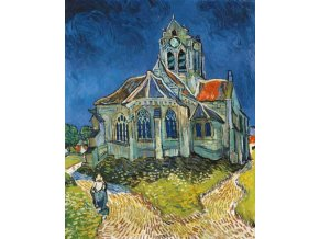 Vincent van Gogh: The Church at Auvers-sur-Oise 1890 (Kostel v Auvers)