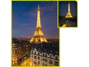 Paříž: Eiffelova věž - fluorescent - svítí ve tmě